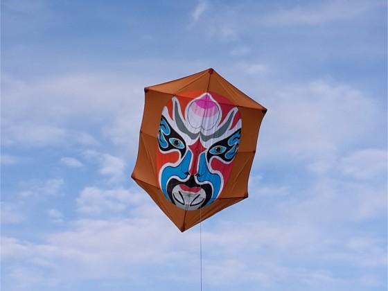 Rokkaku mit Kabuki Motiv