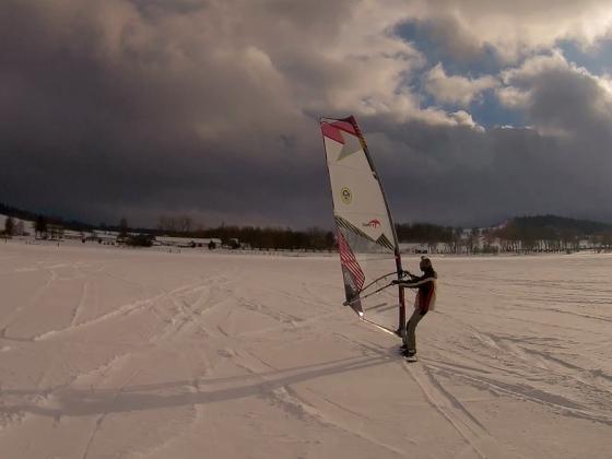 Snowboard mit Rigg