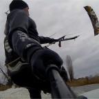 Kitesurfen auf dem Binnensee